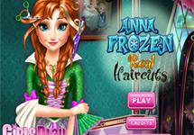 Cortar el pelo a Anna (Frozen)