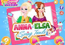 La moda de primavera de Elsa y Anna