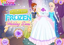 Dise�a los vestidos de boda de Anna y Elsa