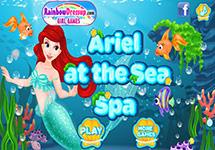 Ariel en un spa marino