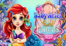 Cortar el pelo a baby Ariel