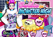 Vestir a Barbie en el insti Monster High