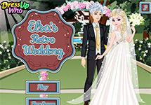 La boda retro de Elsa y Jack