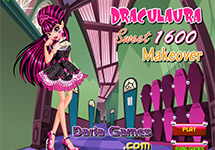 Vestir y maquillar a Draculaura Sweet 1600