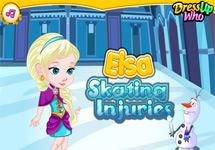 Elsa de Frozen se cae patinando