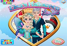 Elsa y su novio en Halloween