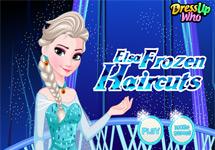 Cortar el pelo a Elsa (Frozen)