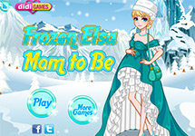 Vestir y maquillar a Elsa embarazada