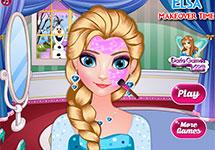 Maquillar a Elsa por Navidad