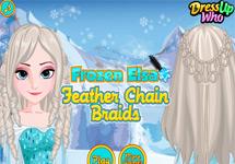 Peinar a Elsa con Trenzas de Plumas