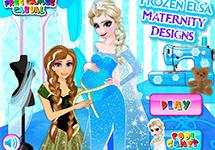 Cose la ropa de embarazada de Elsa