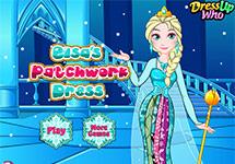 Vestir a Elsa con ropa de retales
