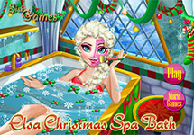 Elsa en un spa por Navidad