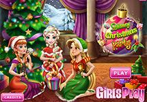 La Navidad de Elsa, Anna y Rapunzel