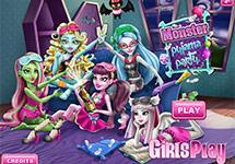 Fiesta pijama Monster High