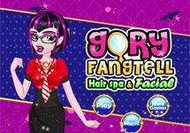 Vestir y maquillar a Gory Fangtell