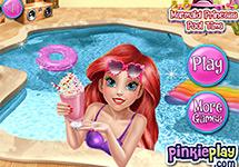 Vestir a Ariel en la piscina