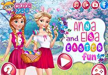 Elsa y Anna en Pascua