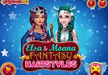 Elsa y Moana vestidas de fantas�a
