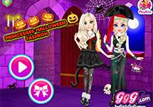 Vestir a Elsa y Blancanieves en Halloween