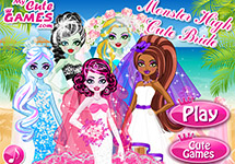 Las Monster High vestidas de novia