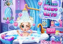 Lavar a baby Elsa