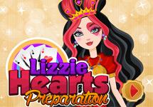 Lavar y vestir a Lizzie Hearts