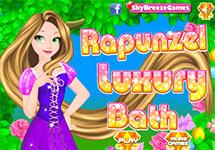 Ba�ar y vestir a Rapunzel