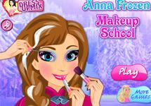 Maquillar a Anna en el Instituto