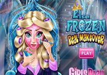 Maquillar a Elsa (Disney Frozen)