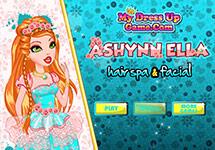 Ashlynn Ella en el centro de belleza