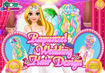 Peinar a Rapunzel en su boda