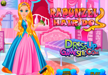 Peinar y vestir a Rapunzel