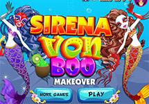 Maquillar y vestir a Sirena Von Boo