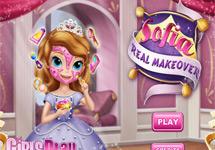 Sofia y su maquillaje Real