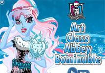 Vestir a Abbey en clase de arte