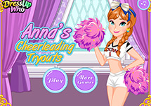 Vestir a Anna de animadora