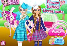 Vestir a Anna y Elsa en la escuela
