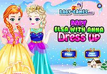 Vestir a baby Anna y Elsa