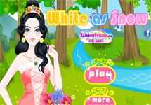 Vestir a Blancanieves en el bosque