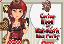 Vestir a Cerise en la fiesta del te
