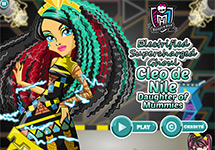 Juego de Monster High Cleo de Nile