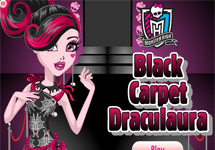 Vestir a Draculaura Black Carpet