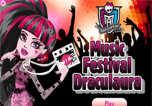 Vestir a Draculaura Festival Musical