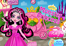 Vestir a Draculaura de princesa