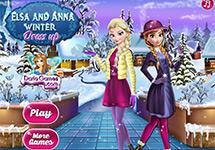 Vestir a Anna y Elsa en invierno