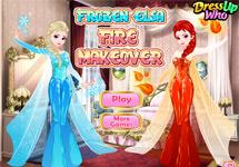 Vestir a Elsa estilo fuego