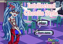 Vestir a Ghoulia en la biblioteca