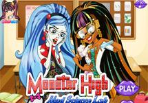 Ghoulia y Cleo en clase de ciencias