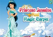Vestir a Jasmine en la alfombra voladora